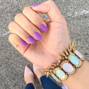 Stella & Dot Renegade spiked gold bracelet